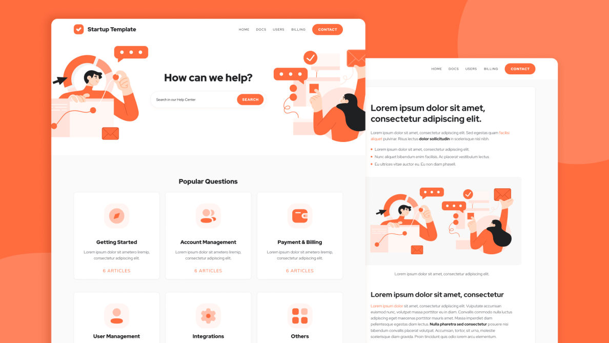 Startup - HelpScout Template